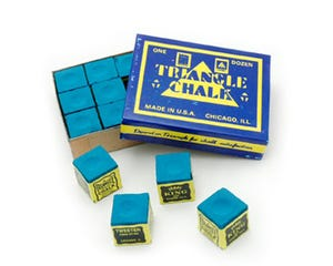 Triangle Blue Chalk - 12 pcs Box