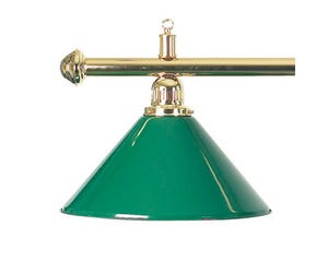 Brass Billiard Table Light - Green