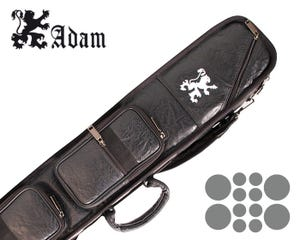 Adam High-End 4x8 Billiard Cue Case - Black