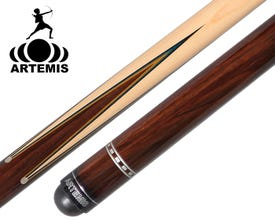Artemis Mister 100 Prongs Spliced Yellow/Blue Veneer Carom Cue