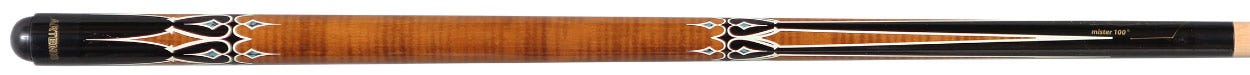 Artemis Mister 100 Brown with Black and White Decals Carom Cue