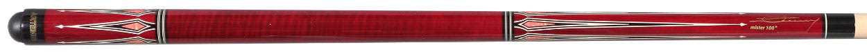Artemis Mister 100 Curly Maple Red with Prongs Carom Cue
