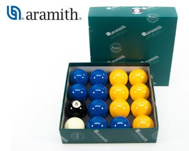 Aramith Casino Premier 50,8 mm 8 Pool Billiard Balls - Yellow and Blue