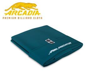 Predator Arcadia Select Pool Table Cloth - Blue Green - Pre-cut Set