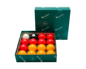 Aramith Casino Premium 50,8 mm 8 Pool Billiard Balls - Yellow and Red
