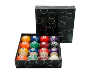 Marble Set Balls 57,2 mm - US Pool Billiard Balls