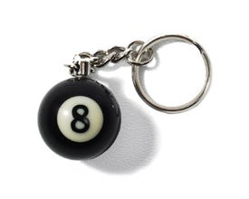 8-Ball Billiard Keychain