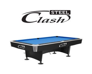 Clash Steel Black Pool Tables