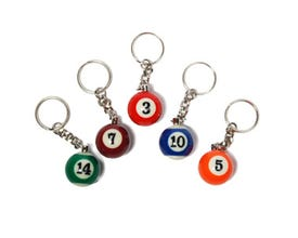 Billiard Ball Keychain