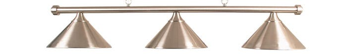 Billiard Table Light - Brushed Chrome