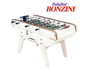 White Bonzini B60 Coin-Op Foosball / Table Soccer
