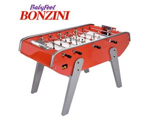 Bonzini B90 Foosball / Table Soccer - Silver and Red