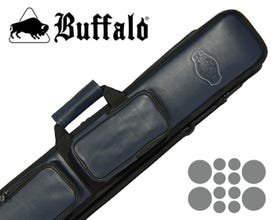 Buffalo De Luxe 4x8 Billard Queue Tasche - Blau