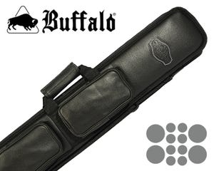 Buffalo De Luxe Soft Billiard Cue Bag 4x8 - Black