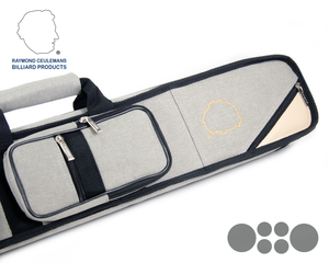 Ceulemans Authentic Cue Case 2x4 - Grey