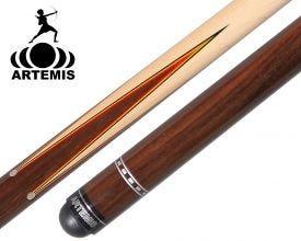 Artemis Mister 100 Prongs Spliced Red/Yellow Veneer Carom Cue