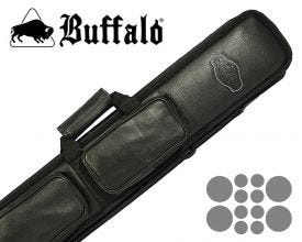 Buffalo De Luxe Soft Billiard Cue Bag 4x8 - Black