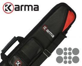 Karma Bara 4x8 Biljart Keutas - Zwart/Rood