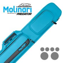 Molinari 2x4 Cyan-Schwartz Flat Bag Billard Queue Tasche