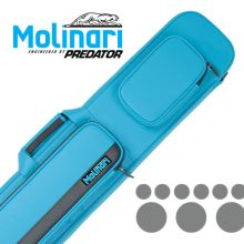 Molinari 3x6 Cyan-Schwartz Flat Bag Billard Queue Tasche
