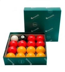 Aramith 8 Pool Premier 50,8 mm Billardkugeln - Gelb/Rot