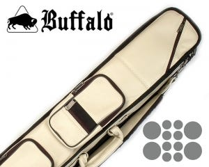 Etui queue de Billard Buffalo High End Crème 4x8