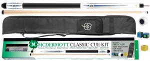 Classic Pool Cue Kit 5 with Case and Accessories by McDermott - White