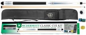 Wit Classic Poolkeu Kit 5 + Foudraal + Accessoires door McDermott