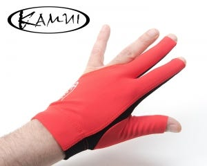 Kamui Quick Dry Red billiard glove - Left Hand