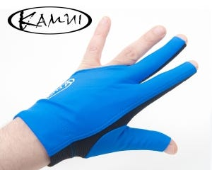 Kamui Quick Dry Blue billiard glove - Left Hand