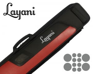 Layani Sporty 4x8 Billiard Cue Case - Black and Red