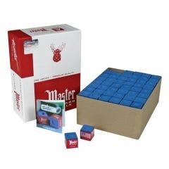 Master Blue Billiard Chalk - 144 pcs Box