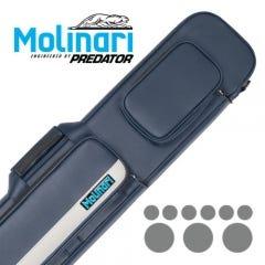 Molinari 3x6 Cyan Black Flat Bag Billiard Cue Case