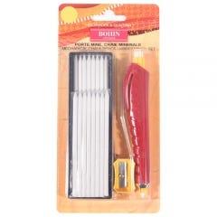 Bohin Markierstift Kreide weiss mit Ersatzminen