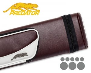 Predator Roadline 3x5 Hard Cue Case - Burgundy/White