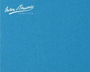 Simonis 300 Rapide Carom Billiard Cloth or Billiard Felt - Electric Blue
