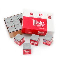 Master Grey Billiard Chalk - 12 pcs Box