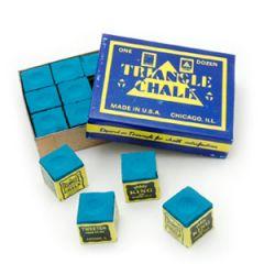 Triangle Blue Chalk - 12 pcs Box