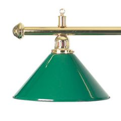 Brass Billiard Table Light - Green