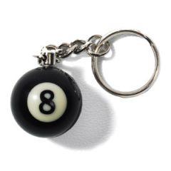 8-Ball Billiard Keychain