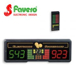Favero Play 6T Electronic Billiard Scoreboard with Timer and Infra-Red Remote