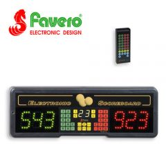 Favero Play 8 Electronic Billiard Scoreboard with Innings and Infra-Red Remote
