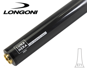 Longoni 3-Cushion Luna Nera E71 Graphite shaft - VP2 joint