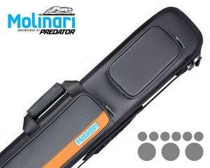 Molinari 3x6 Black-Orange Billiard Cue Case