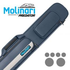 Molinari 2x4 Navy Blue/Beige Flat Bag Billiard Cue Case