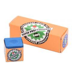 NIR Super Pro Blue Billiard Chalk - 3 pcs Box