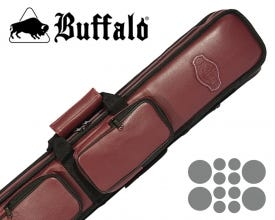 Buffalo De Luxe Soft Billiard Cue Bag 4x8 - Red