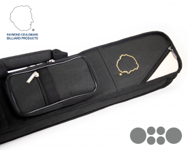 Ceulemans Authentic Cue Case 2x4 - Black