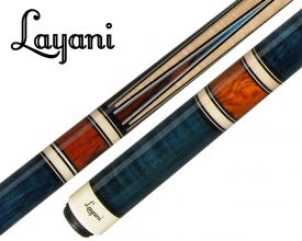 Layani Soumagne II Carom Billiard Cue - Blue