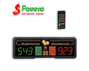 Favero Play 6 Electronic Billiard Scoreboard with infra-red remote